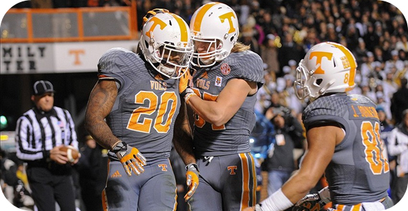 Tennessee Volunteers against Florida Gators